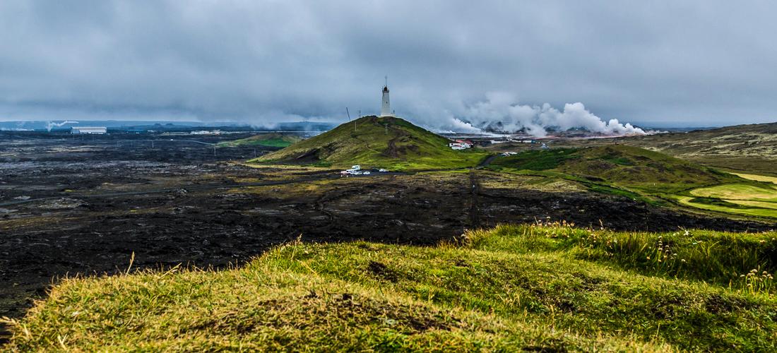 Le phare de Reykjanes, le plus vieux d'Islande.