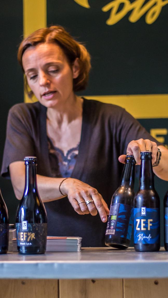 Dégustation de bières à la brasserie 5 bis à la Palme