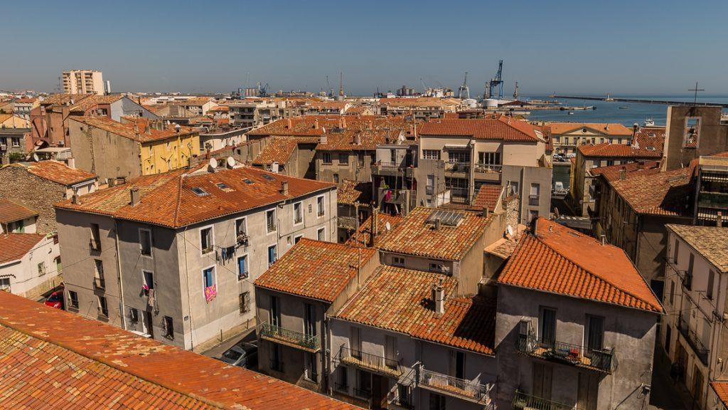 Vue sur les toits de Sète