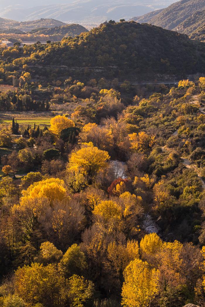 Paysage d'automne à Rodès