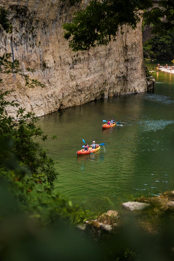 Canoë dans les Gorges du Tarn en Lozère