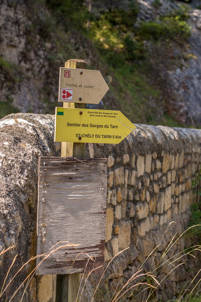 sentier linéaire des Gorges du Tarn en Lozère