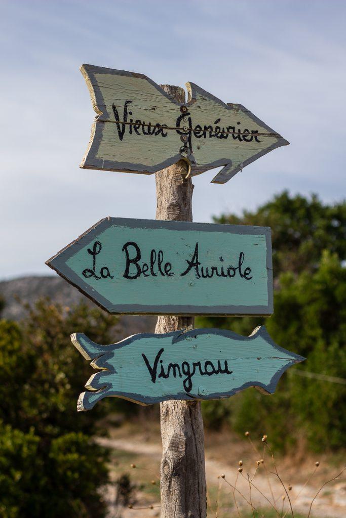 Panneaux d'indications la Belle Auriole