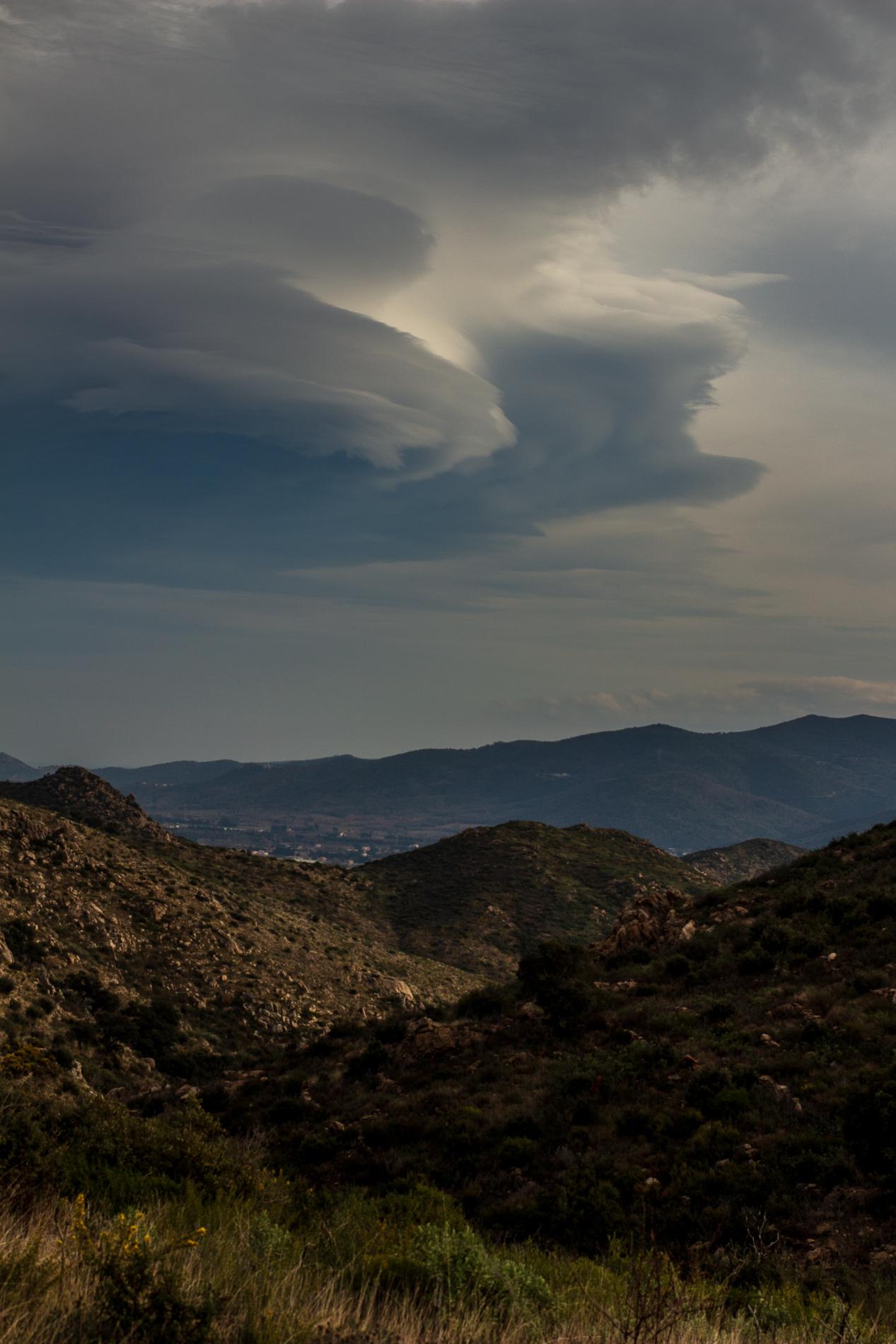 nuages sur la plaine du Roussillon