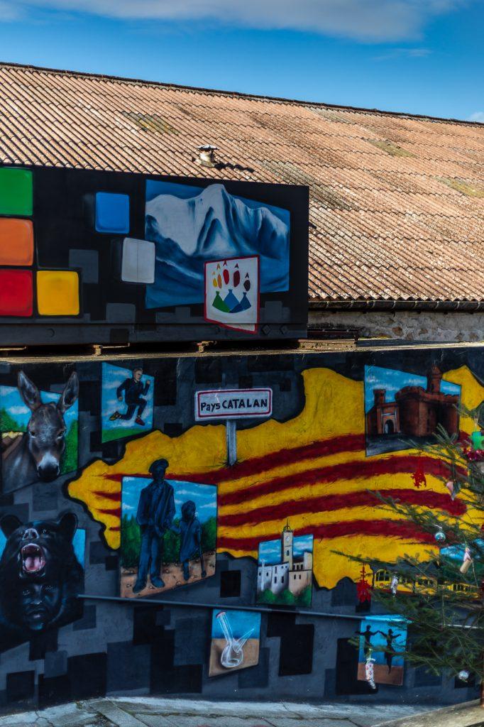 Peinture murale du Pays catalan à Saint Laurent de Cerdans